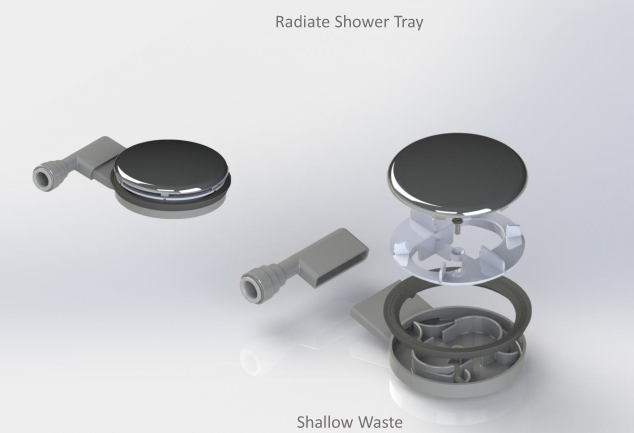 Radiate shower tray - Shallow shower tray ...
