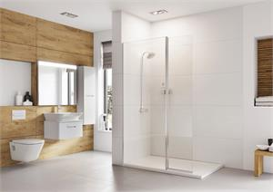 Wetroom Panel with Pivot Panel